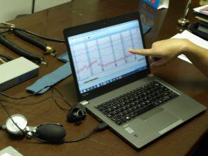 Reações gráficos polígrafo, base científica de medição